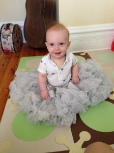 baby wearing tutu